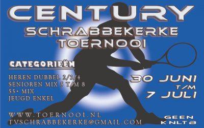 De inschrijving voor het Century Schrabbekerke Toernooi 2019 is geopend!